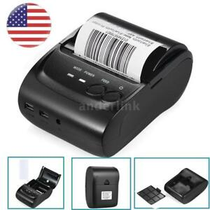 Wireless Bt Pocket Mini Thermal Receipt Printer For Ios Android Wins Mobile 58mm