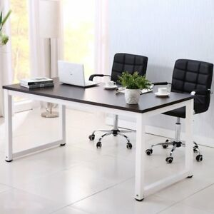 Laptop Table Computer Desk Wood Workstation Study Office Furniture W Shelf To