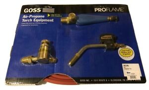 Goss Air Propane Soldering Heating Torch Kit Lp Regulator Bp 15lpm Igniter Tip
