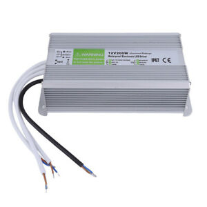 Dc 12v 200w Ip67 Led Driver Power Supply Transformer For Strip Waterproof