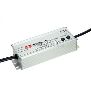 Mean Well Hlg 60h 30b 30v 2a Power Supply Led Driver Waterproof Outdoor Pwm