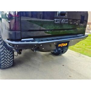 N Fab C14rbs H Rbs Rear Bumper Pre Runner Style W Brushed Aluminum Skid Plate