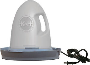 K h Pet Products Poultry Waterer Heated 2 5 Gallon Gray 16 X 16 X 15 2061