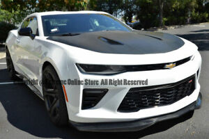 R Style Carbon Fiber Front Bumper Lip Lower Spoiler For Chevy Camaro Ss 16 Up