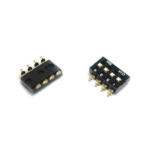 New 2p 4p 8p Way Bits Position Switch Black Gold plated 2 54mm Smd Es