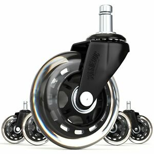 Sunniedog Office 10mm Stem Rollerblade Style Office Chair Caster Wheel Replac