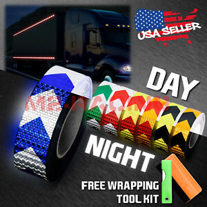 arrow Conspicuity Tape 2 x120 Reflective Safety Warning Sign Car Truck Rv