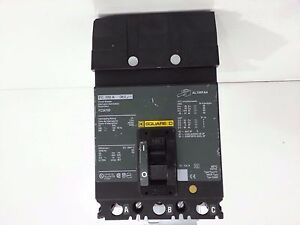 New Square D Fc34100 Circuit Breaker 3 Pole 100 Amp 480 Volt Minor Chip In Crown
