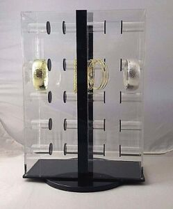 Clear Acrylic One side Bracelet Spinning Lockable Bar Display 1sbd