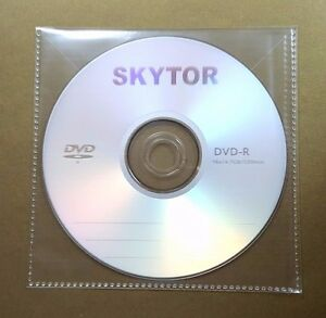 100 Cd Dvd Cpp Clear Plastic Sleeve With Flap Stitching On Borders 100micron
