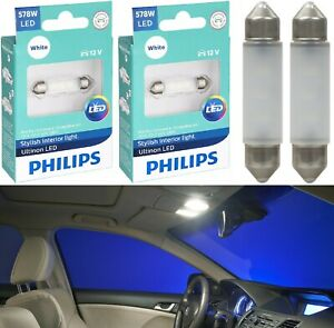 Philips Ultinon Led Festoon 578 White 6000k Map License Plate Dome Trunk X 4