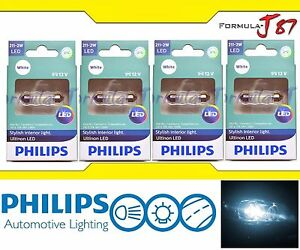 Philips Ultinon Led Festoon 211 2 White 6000k Map License Plate Dome Trunk X 4