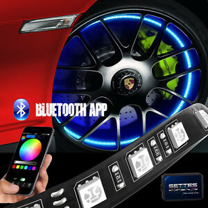 Bluetooth Control Wheel Well Light Kit 4pc 12 Custom Rgb Accent Led Strip Light