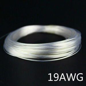 50m 164ft 14 24awg Teflon Wire Silver Plated Diy Power Transformation Line