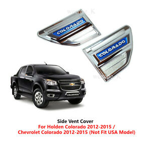 Chrome Side Vent Side Vents Cover For Chevrolet Holden Colorado 2012 2013 2016