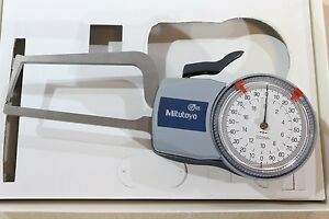 Mitutoyo External Thickness Point Dial Caliper Gauge Gage 0 20mm 0 01mm