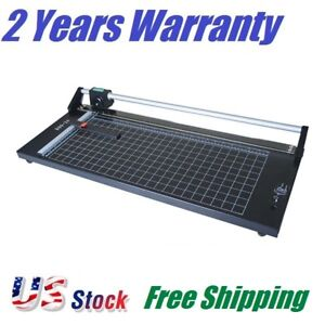 Us Stock 24 Inch Manual Precision Rotary Paper Trimmer Sharp Photo Paper Cutter