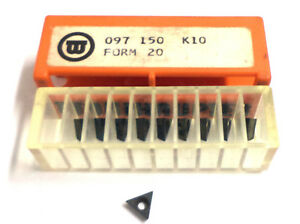 10 Indexable Inserts Wohlhaupter Multibore Fine Spindle Heads 097 150 K10 Form20