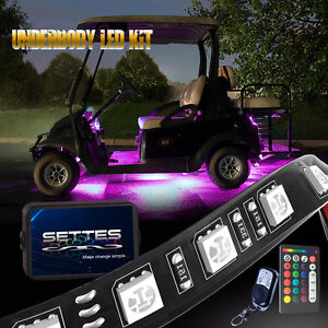 Golf Cart Led Under Body Glow Neon Lights 128led Kit For Ezgo Club Car Yamaha