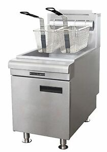 Black Diamond Stainless Steel 60k Btu Gas Countertop Fryer Ng 35 Lb Bdctf 6o ng