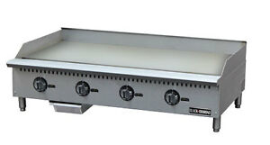 Black Diamond Thermostatic Series Gas Griddle 48 Stainless Steel Bdctg 48t New