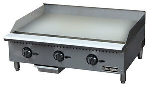 Black Diamond Thermostatic Series Gas Griddle 36 Stainless Steel Bdctg 36t New