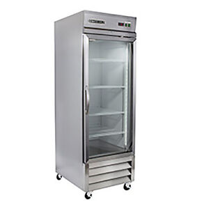 New Maxx Cold Mxcr 23gd Single Door Glass Reach in Cooler Refrigerator Maxximum
