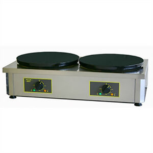 Equipex 400ed 15 75 Double Crepe Maker W Cast Iron Plates 240v 1ph