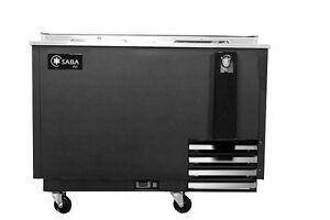 Saba Air 50 Beer Bottle Cooler 2 Sliding Doors 5 Year Comp Warranty Sbc 50b