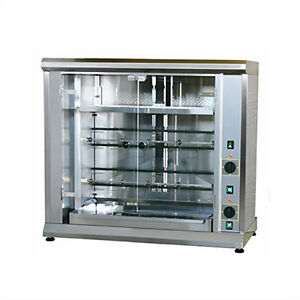 Equipex Rbe 8 1 Electric 2 spit Commercial Rotisserie 208 Volt 1 Or 3 Phase
