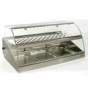 Equipex Vhc 1000 42 Heated Service Display W Curved Lift Up Plexiglass Front
