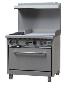 Black Diamond Gas Range griddle Combo 36 Wide 2 Burner 24 Griddle Bdgr 3624g