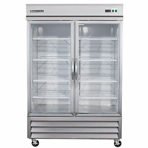 Maxx Cold Mxcr 49gd Two 2 Glass Door Commercial Nsf Refrigerator Cooler 49cf