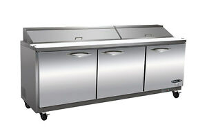 Kool it Ikon Ksp72 72 3 door Commercial Refrigerated Sandwich Salad Prep Table