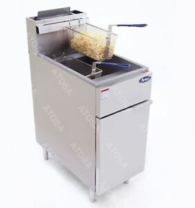Atosa Atfs 40 Heavy Duty 40 Lb Stainless Steel Deep Fryer Nat Gas Or Lp Propane