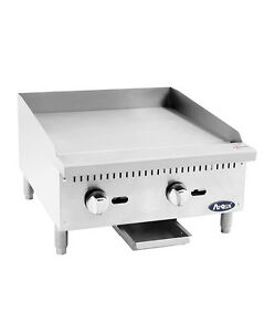 Atosa Usa Atmg 24 Heavy Duty 24 Griddle Grill Nat Gas Lp Flat Stainless Steel