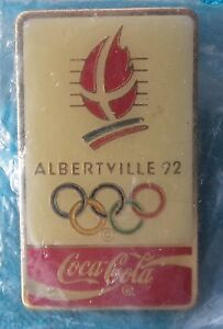 1992 ALBERTVILLE OLYMPIC GAMES  COCA-COLA  PIN BADGE