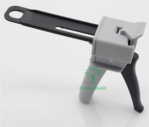 1pcs Dental Impression Mixing Dispensing Dispenser Gun 4 1 Ratio 50ml New