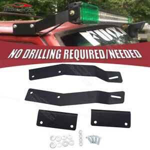 No Drilling Need 50 Inch Light Bar Roof Mount Bracket Fit Jeep Cherokee Xj 84 01
