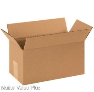 100 10 X 6 X 6 Corrugated Shipping Boxes Packing Storage Cartons Cardboard Box