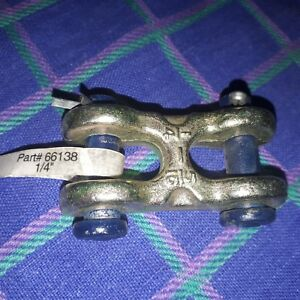 Steel Double Clevis Link 1 4 66139 6600lb Lot Of 12