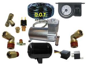 V 1 Gallon Air Tank Compressor Air Suspension In Cab Control For Your Air Bags