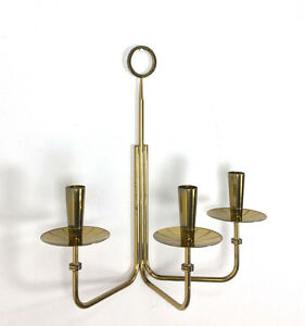 Vintage Tommi Parzinger Dorlyn Brass Wall Candelabra Sconce Mid Century Modern