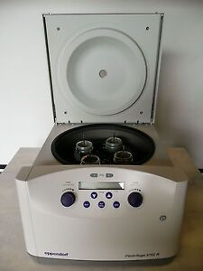 Eppendorf 5702r Centrifuge W Rotor Buckets Ref 39385