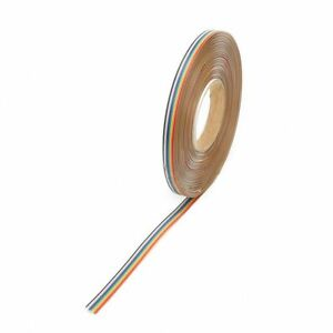 10way 50way Dupont Wire Flat Flexible Rainbow Ribbon Pcb Cable Pitch 1 27mm Es
