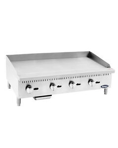 Atosa Usa Atmg 48 Heavy Duty 48 Griddle Grill Nat Gas Lp Flat Stainless Steel