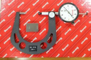 Starrett Automotive Dial Indicating Disc Brake Gauge Gage Micrometer 0 3 2 0