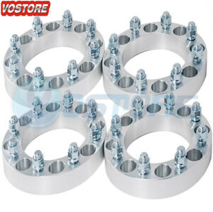 4pc 5x5 5 To 6x5 5 5 To 6 Lug 2 Thick Wheel Spacers Adapters Ram To Silverado