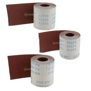3pc 10m Emery Cloth 180 320 600 Grit Sandpaper Cleaning Copper Pipe Fittings