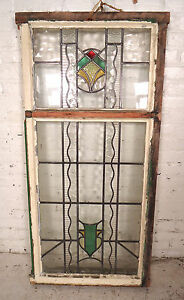 Large Vintage Stained Glass Window Panel 08086 Ns